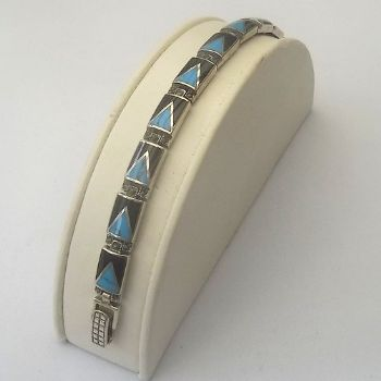 Indian Turquoise Bracelet with triangle design
